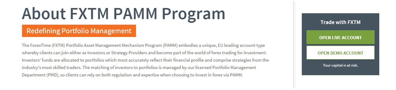 Pamm forex uk